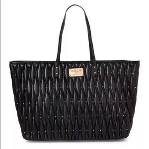 bebe Diamanda Studded Tote Bag Black Handbag